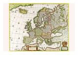 Europa Poster von Nicolas Visscher