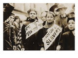 Young Girls Protest Child Labor in New York Rally and Carry Yiddish Signs Prints