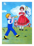 Little Boy Blue and Bo Peep Print by Queen Holden