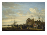 Drawing of the Eel Kunstdrucke von Salomon van Ruysdael