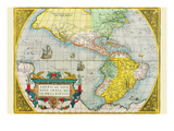 The Americas Poster by Abraham Ortelius