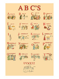 Kate Greenaway's ABC's Prints by Kate Greenaway
