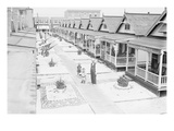 Porches and Front Lawns of Row of Bungalows, Rockaway, N.Y. Prints
