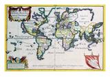 Mappe-Monde or Carte Universel Posters by Nicolas De Fer