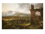 Morning View Near Tivoli Posters by Thomas Cole