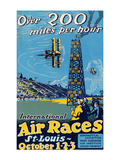 St. Louis International Air Races Premium Giclee Print