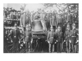 Boston Police Watch over the Liberty Bell That Has Arrived by Train Prints