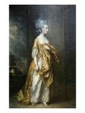 Mrs. Grace Dalrymple Portrait Kunst av Gainsborough, Thomas