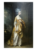 Mrs. Grace Dalrymple Portrait Art by Thomas Gainsborough