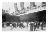 Lusitania at New York Dock Prints