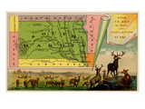 South Dakota Print by  Arbuckle Brothers