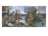 The River Premium Giclee Print by Pierre Puvis de Chavannes