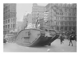 British Tank Sporting an American Flag Tracks Down Fifth Avenue, New York Prints