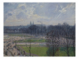 Garden of the Tuileries in a Winter Morning Lámina por Camille Pissarro