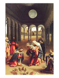 Christ Bids Farewell to His Mother Posters by Lorenzo Lotto