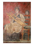 Seated Woman Playing a Kithara Posters