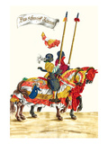 German Knights in Horseback in Procession Print by H. Burkmair