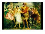 Cymon and Iphigenia Posters by John Everett Millais