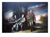 The Honorable Henry Fane with His Guardians, Indigo Jones and Charles Blair, 1761–66 Posters av Sir Joshua Reynolds