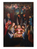 Adoration of the Christ Child Poster von Jan Joest of Kalkar (Follower of)