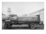 More Power from Lightening Motor Fuel from Penn Oil Truck Premium Giclee Print