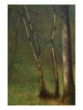 Forest at Pont Aubert Posters van Georges Seurat