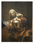 Old Woman Cutting Her Nails Prints by  Rembrandt van Rijn