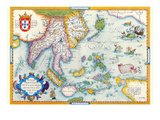 East Indies by Ortelius Prints by Abraham Ortelius