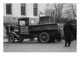 Truck Marked as the Turkey Special Delivers a Turkey to the White House for Thanksgiving Print