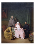 The Visit Posters by Pietro Longhi