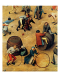 Children&#39;s Games (Detail) Poster by Pieter Breughel the Elder