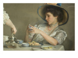 Teeblätter Kunst von William McGregor Paxton