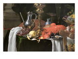 A Banqueting Scene - Still Life Prints by Jan Davidsz. de Heem