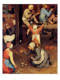 Children's Games (Detail) Premium Giclee Print by Pieter Breughel the Elder