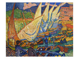 Fishing Boats, Collioure Posters by Andre Derain