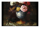 Wan-Li Vase with Flowers Prints by Balthazar Van der Ast
