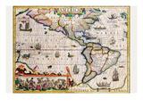 The Americas Posters by Jodocus Hondius