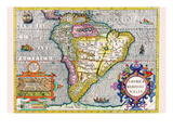 South America Prints by Jodocus Hondius