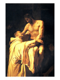 Christ Embracing St. Bernard Affiches par Francisco Ribalta