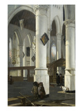 Interior of the Old Church in Delft, 1650–52 Posters by Emanuel de Witte