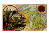 Michigan Print by  Arbuckle Brothers