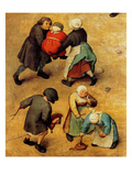 Children&#39;s Games (Detail) Print by Pieter Breughel the Elder