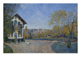 View of Marly-Le-Roi from Coeur-Volant Prints by Alfred Sisley
