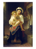 Up You Go Premium Giclee Print by William Adolphe Bouguereau