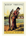 Keep Trying Premium Giclee Print by Wilbur Pierce