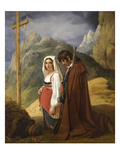 Italian Couple at Roadside Shrine Posters by Robert Louis-Leopold
