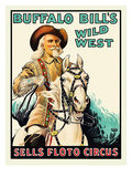 Buffalo Bill at the Sells Floto Circus Wild West Show Art