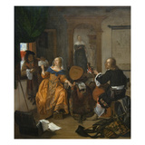 Musical Party Print by Gabriel Metsu