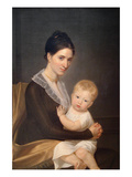 Mrs. Marinus Willett and Her Son Marinus, Jr. Kunstdruck von John Vanderlyn