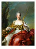 Madame De Maison-Rouge as Diana Prints by Jean-Marc Nattier